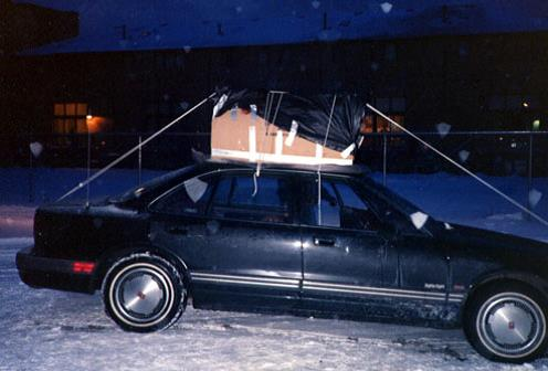Me hidden in a box on top of a car secretly recording a meeting at The Furama Restaurant in Chicago's Chinatown between members of New York City, Boston, and Chicago Chinese organized crime figures.