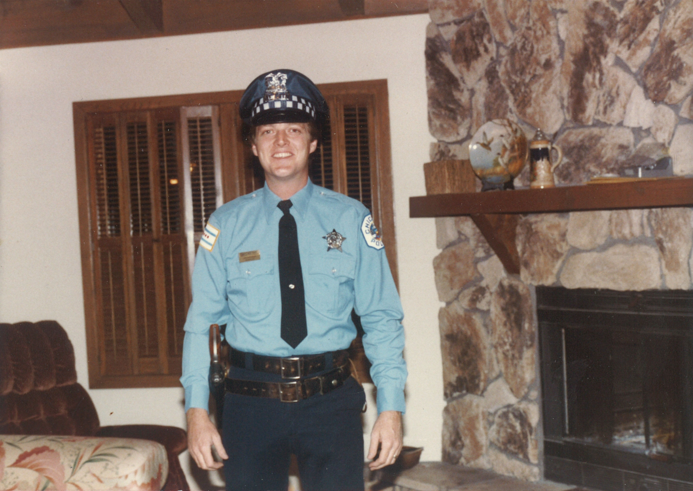 Me in uniform in my early years as a Chicago Cop.